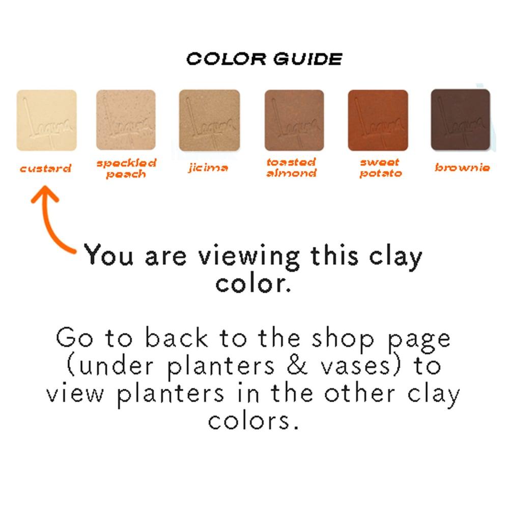 Image of Small Niña Planters- custard clay color