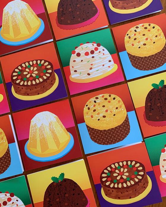 Image of Xmas Cakes – Set of cards
