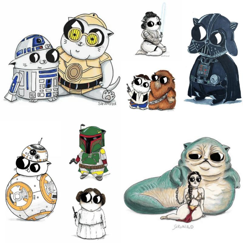 Image of Star Wars & The Child Fan Art Prints