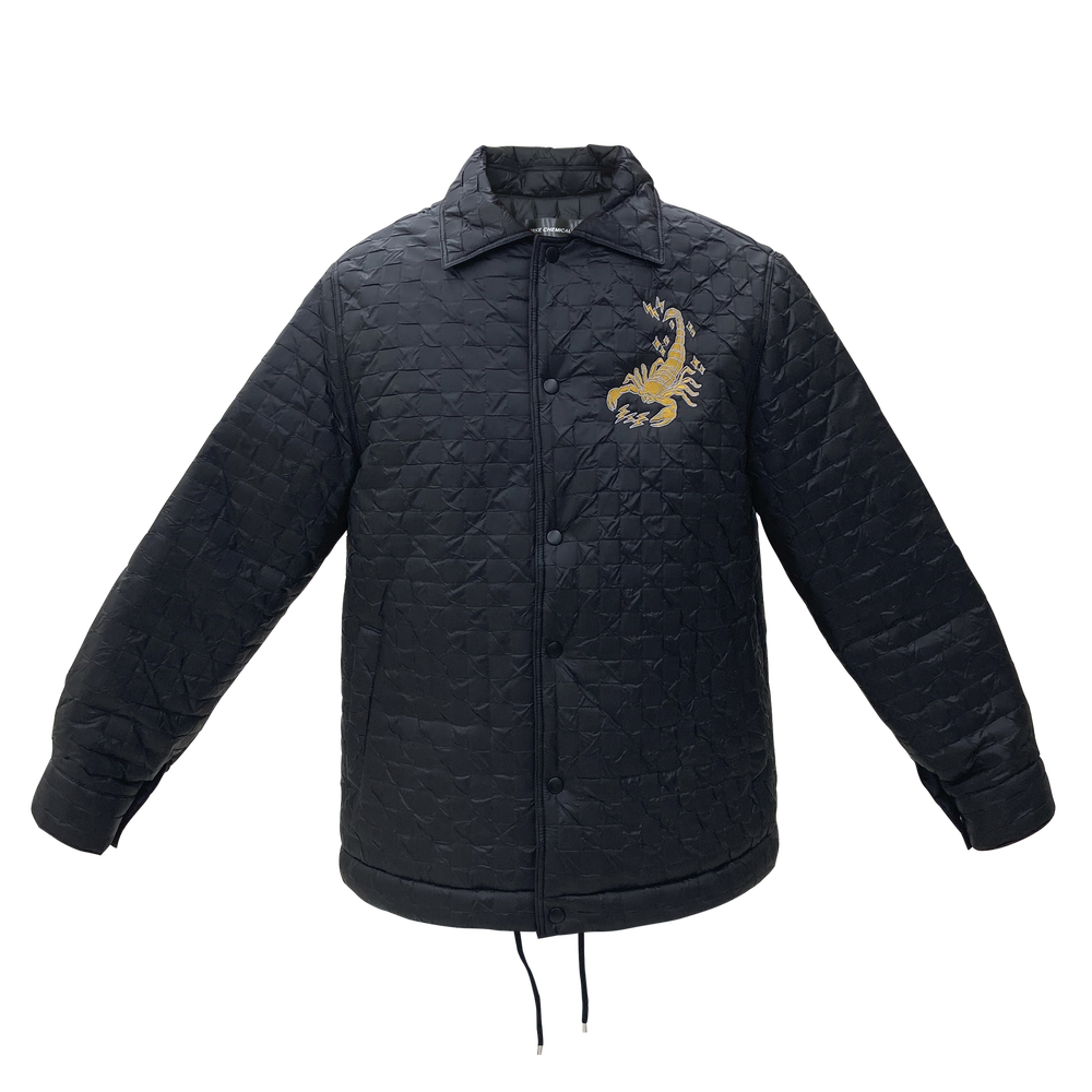 Image of Scorpio Puff Coach Jacket Black