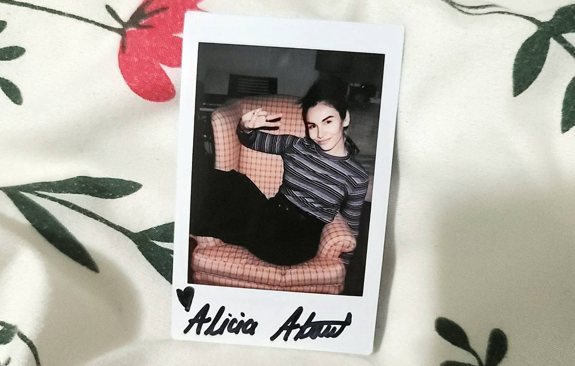 Image of Alicia Atout Custom Signed Polaroid