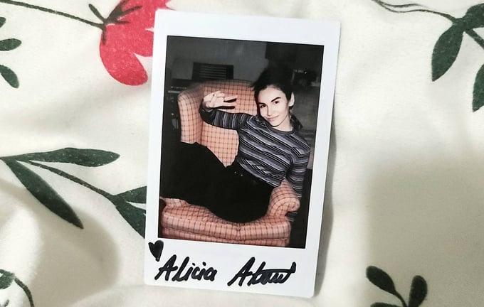 Image of Alicia Atout Custom Signed Polaroid