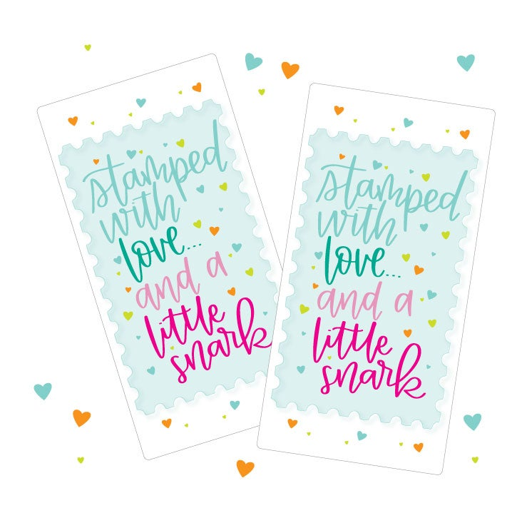 "Image of Big ""Stamped with Love & Snark"" Stickers - Set of 10"