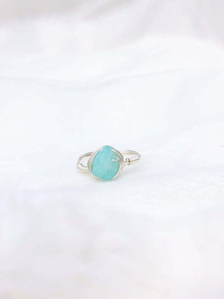 Image of Blue Quartz Stone Ring
