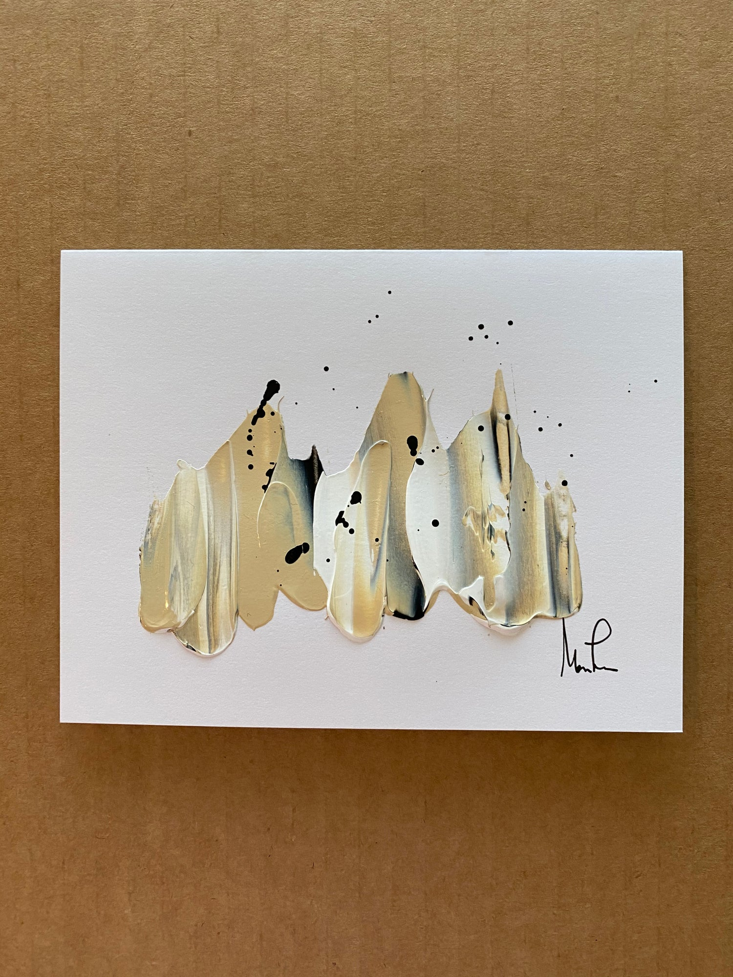 Image of 5 pack Hand Painted 4.25 x 5.5 Notecards (Color Options)
