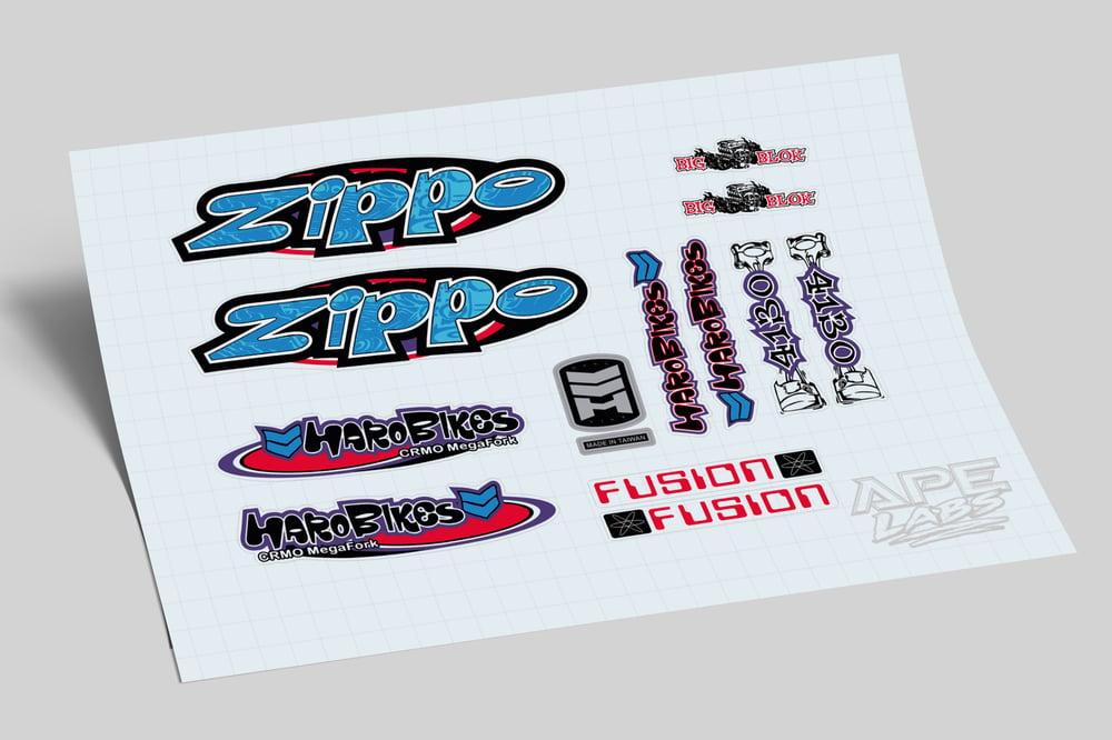 Image of Haro zippo decal set