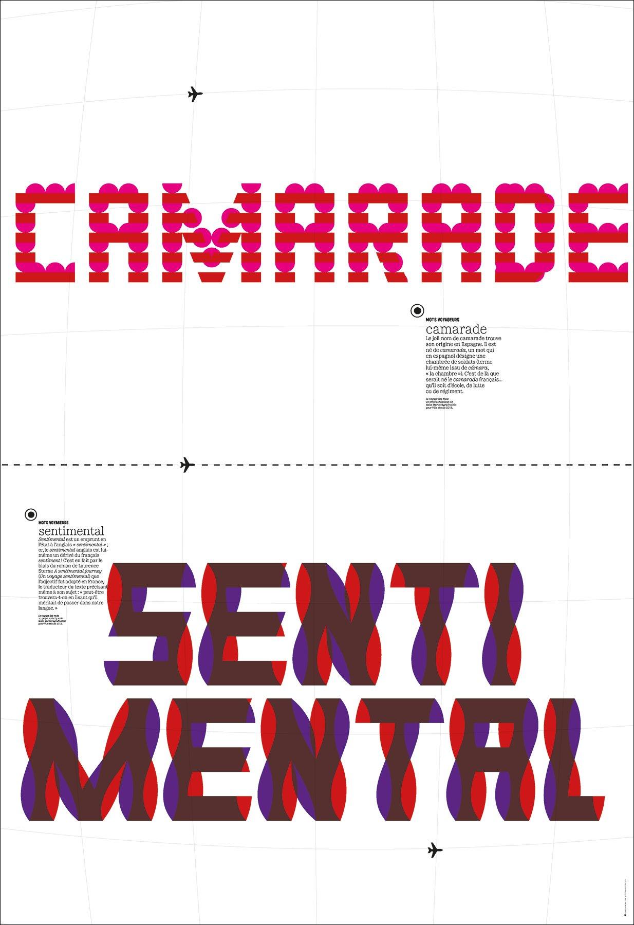 "Image of Mots voyageurs - poster ""camarade/sentimental"""