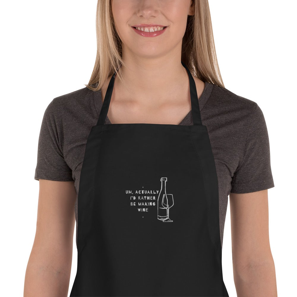 Image of Embroidered Apron