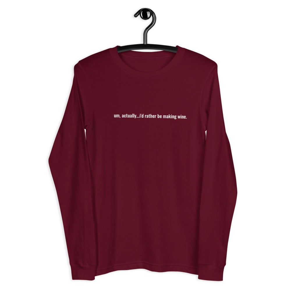 Image of I'd rather be making wine t-shirt