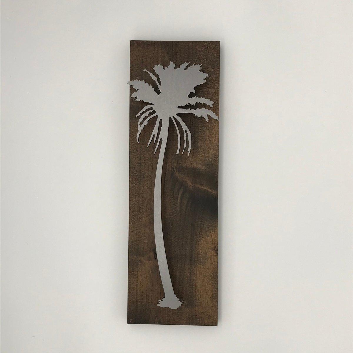 Palm Tree on Knotty Alder