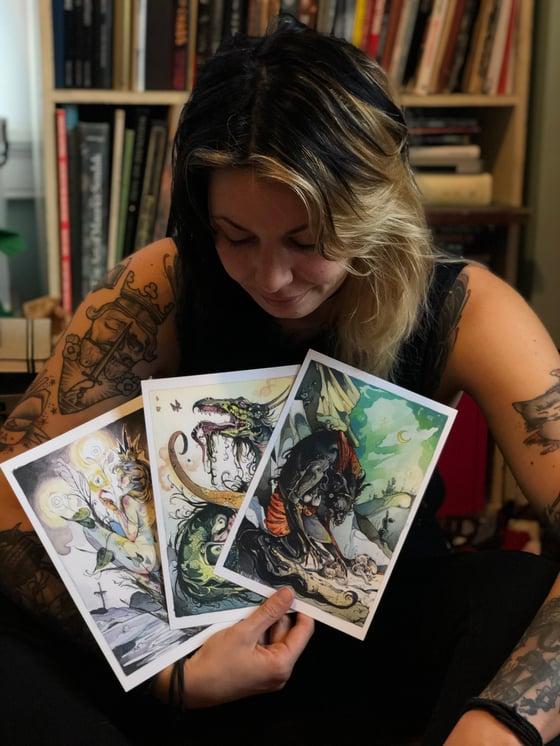 Image of Ekphrastic Beasts Entire Set of 15 Prints