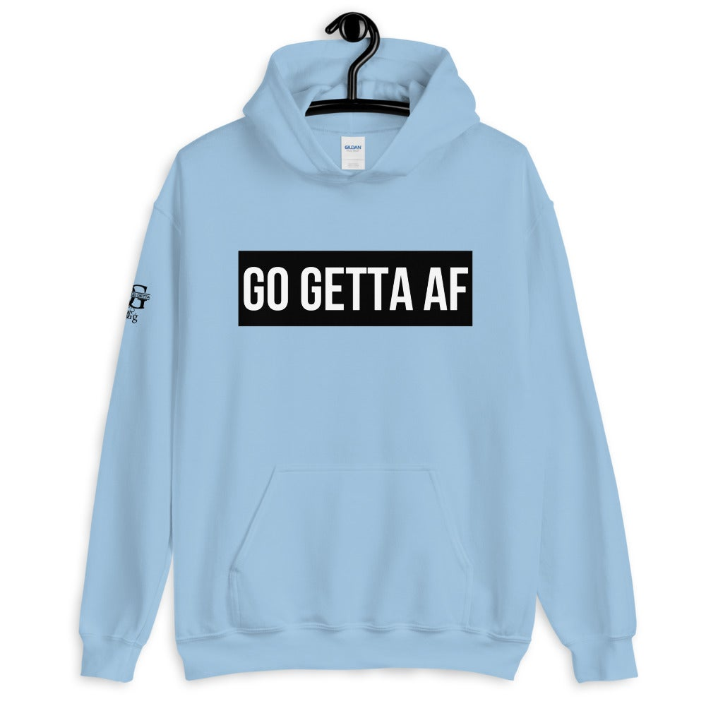 Image of Go Getta AF Label Unisex Hoodie (Pink, Green, Blue, Maroon)