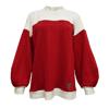 Cocoon Sweater - Crimson x Lunar White
