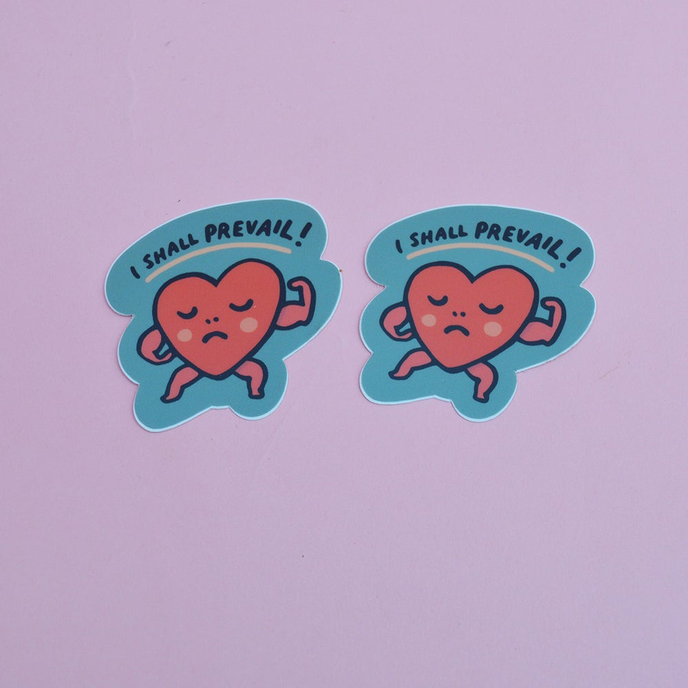 """Image of """"I Shall Prevail"""" Heart Sticker"""