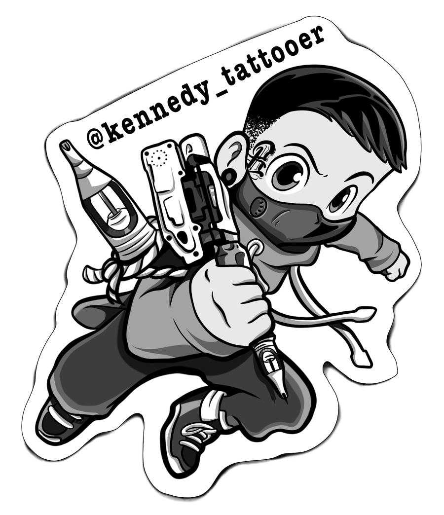 Image of Kennedy_Tattooer Sticker