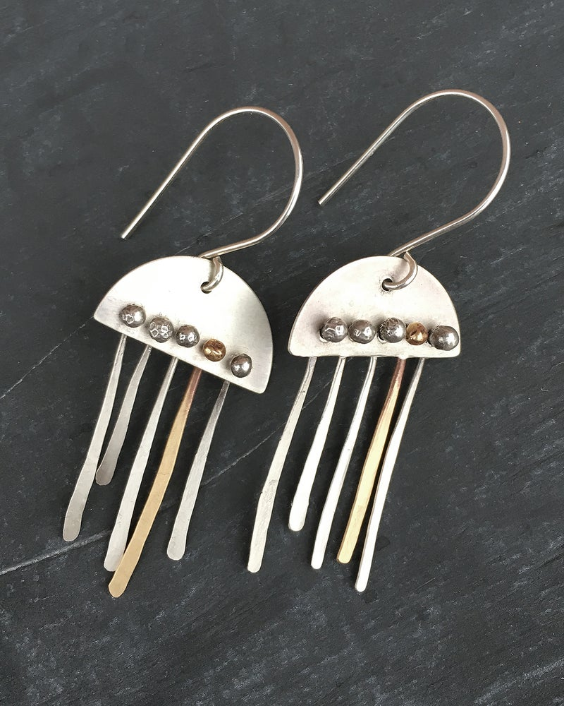 Image of Wire and Flame Earrings