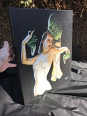"""Creature from the Black Tie Lagoon! Limited Edition Stretched Canvas Print"