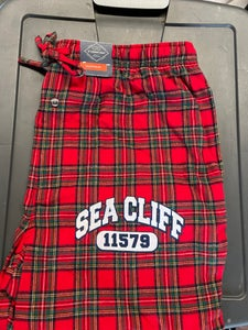 Image of Sea Cliff Pajama Pants Red Plaid