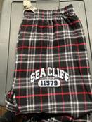Image of Sea Cliff Pajama Pants Black/Red Plaid