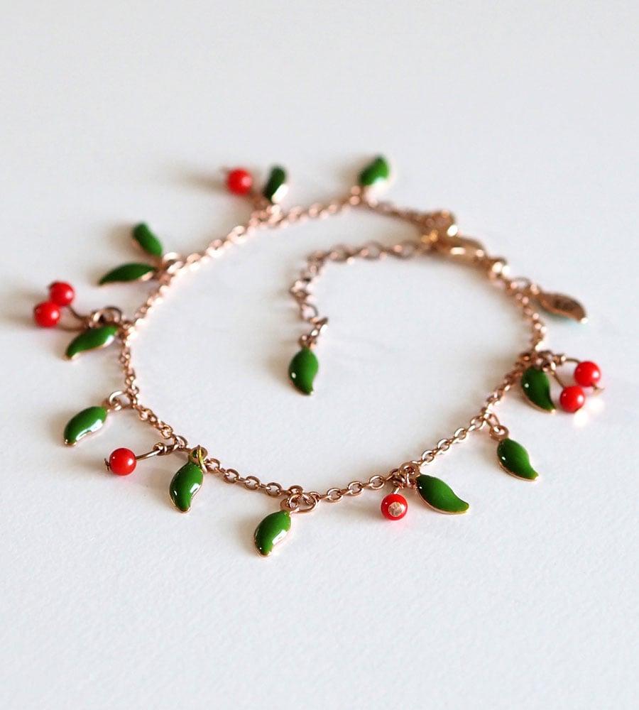 Image of Bracelet Le Temps des Cerises - Doré Or Rose