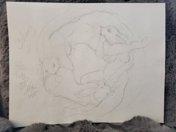 Image of The Three Hares sketch page