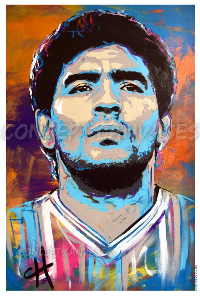 Image of Maradona 'Man Without Equal' A3 Print