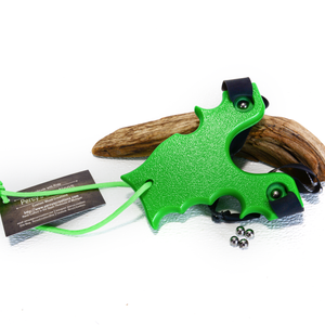 Image of Sling Shot Catapult, Green Textured HDPE, The Renegade, Hunter Gift, Right or Left Handed Shooter