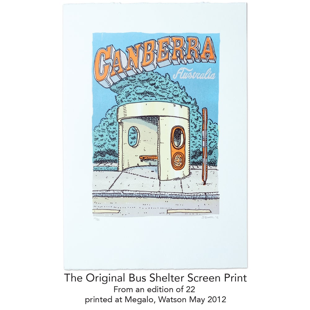 Image of Bus Shelter Screen Print 2012