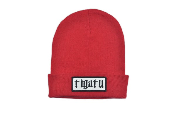 "Image of ""Shop"" Beanie - Red"