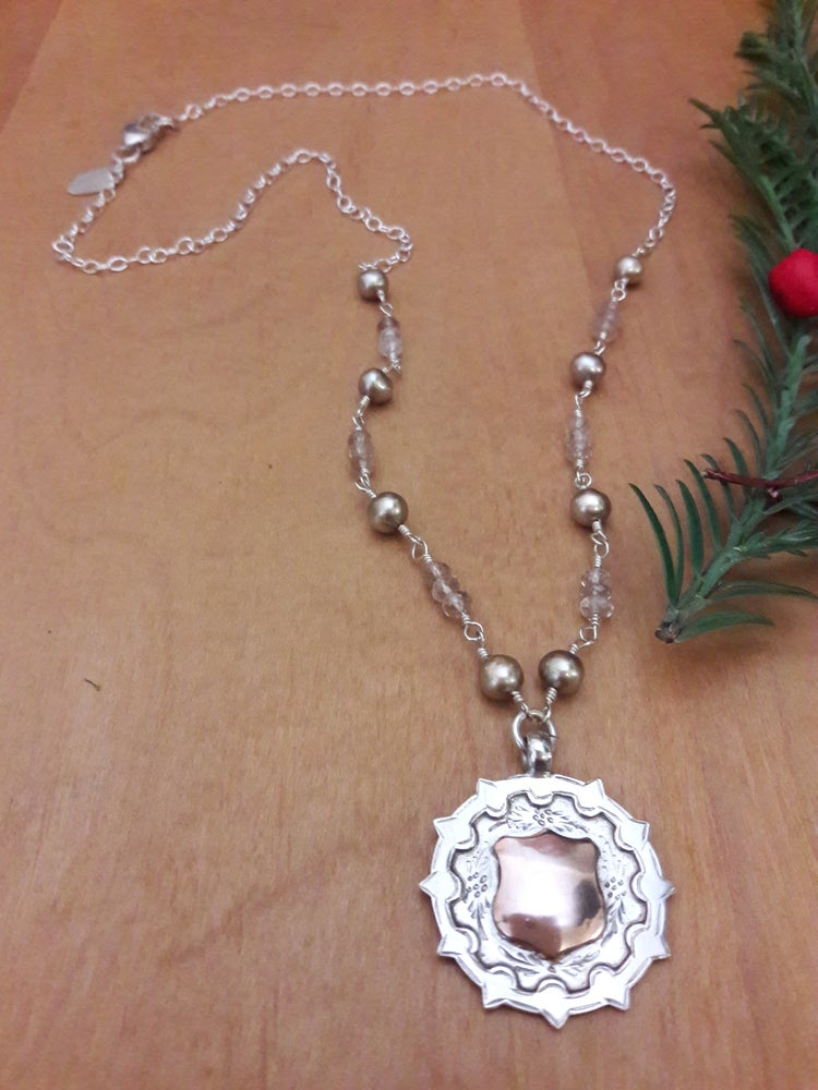 Image of Champagne Topaz with star fob, item 1QG