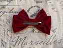 Red Velvet Flower Charm Bow