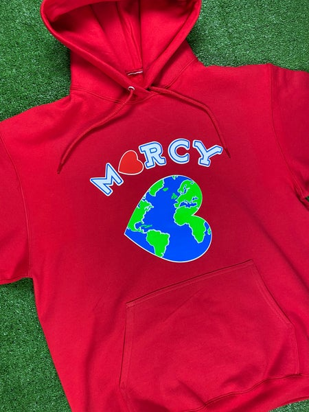 "Image of ""WORLD CHANGER"" hoodie (red)"