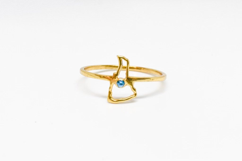 Island Stone Outline Ring