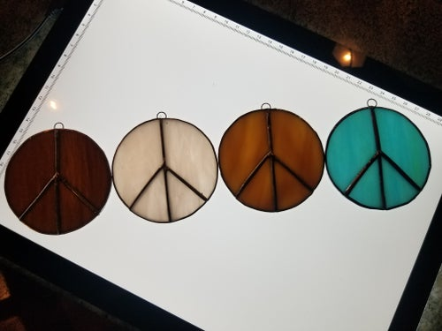 Image of Peace sign-stained glass