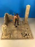 Stone Ruin Diorama Tan