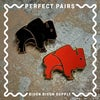 Perfect Pairs • Black and Red Rust Bison