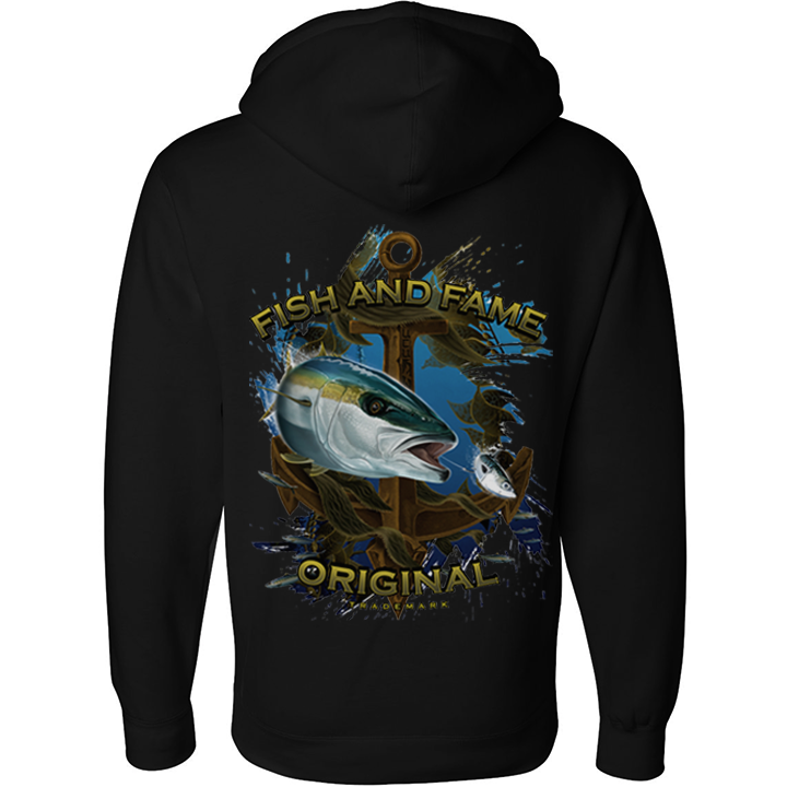 Image of Yellowtail & Anchor Pullover (black)