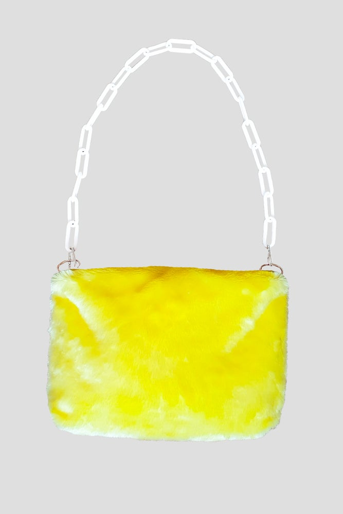 Image of Fluffy Yellow Purse