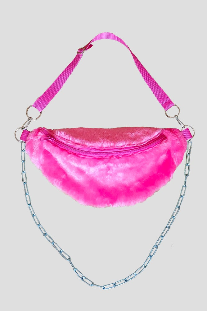 Image of Pink Fluffy Fanny Pack