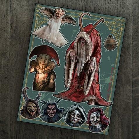 Image of Krampus & Friends Sticker Set