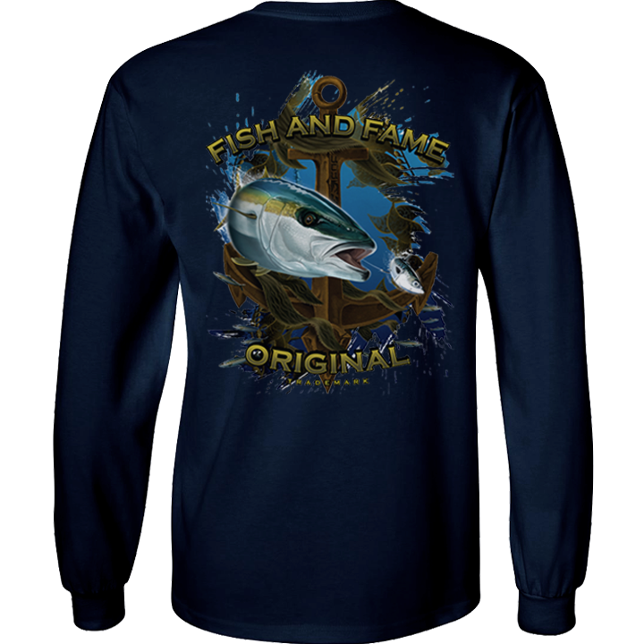 Image of Yellowtail & Anchor Long Sleeve (navy)