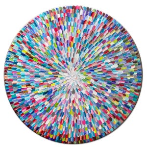 Image of Pacific orbis rainbow II - 90x90cm
