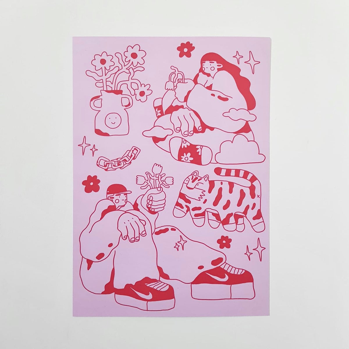 Dream (pink and red) - A4 print