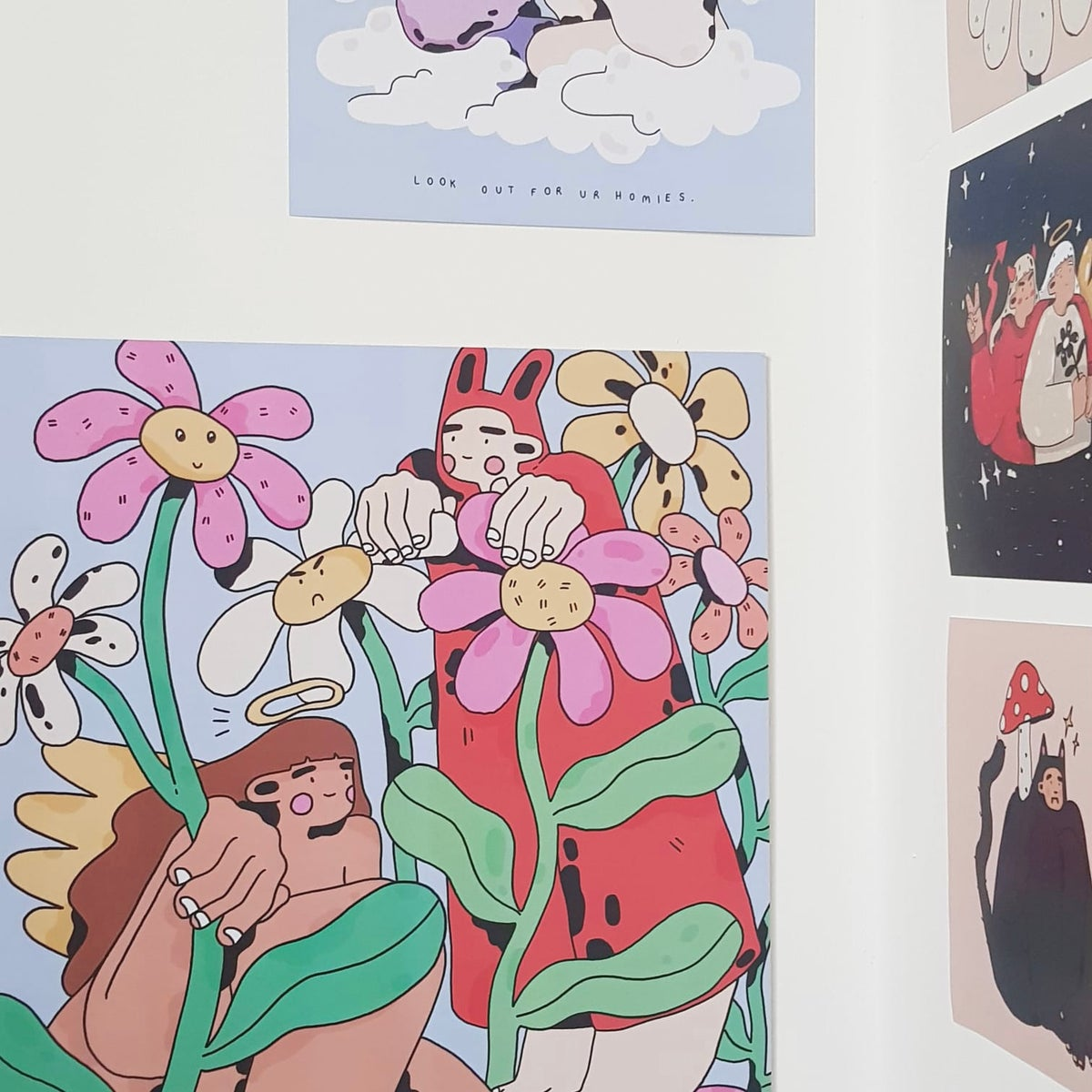 Restocked! 'Grow together' A3 print