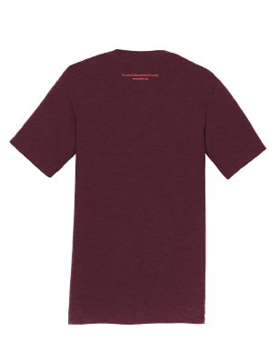 Image of Right-side-out debra t-shirt - maroon