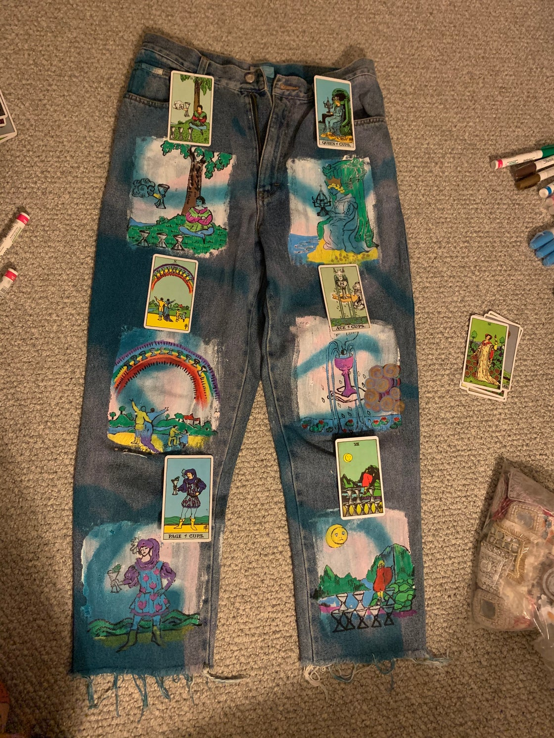 Image of CUPS & PENTACLES TAROT JEANS