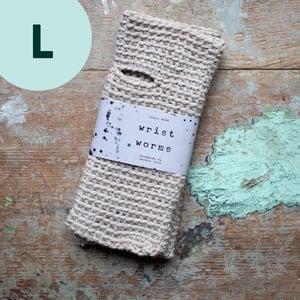Wrist Worms, Alpaca/Wool, Offwhite, LARGE