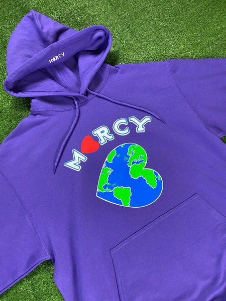 "Image of ""WORLD CHANGER"" hoodie (purple)"