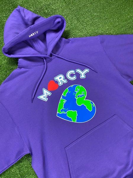 "Image of ""WORLD CHANGER"" hoodie (purple)"