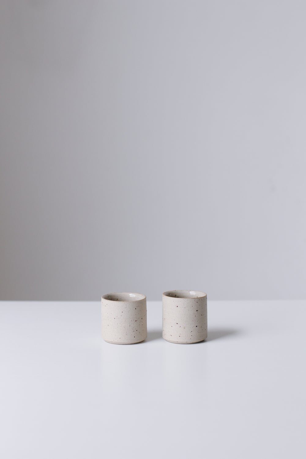 Image of Pair of Flecked Espresso Cups